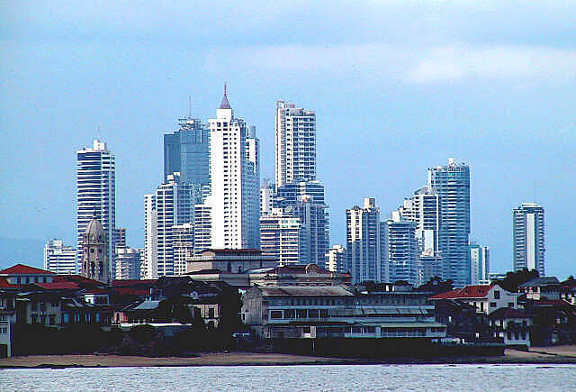 Panama city old and new
